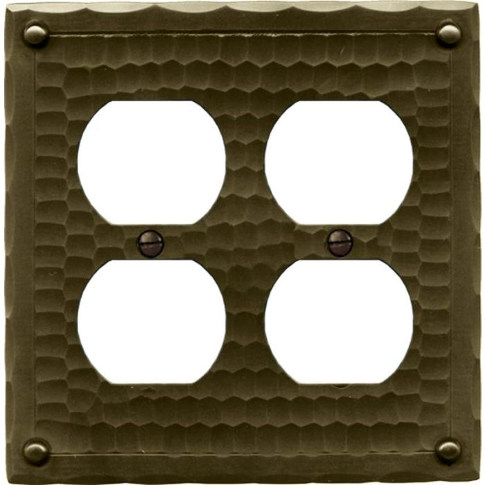 Field Style 2 Gang Duplex Outlet Wall Plate Cover