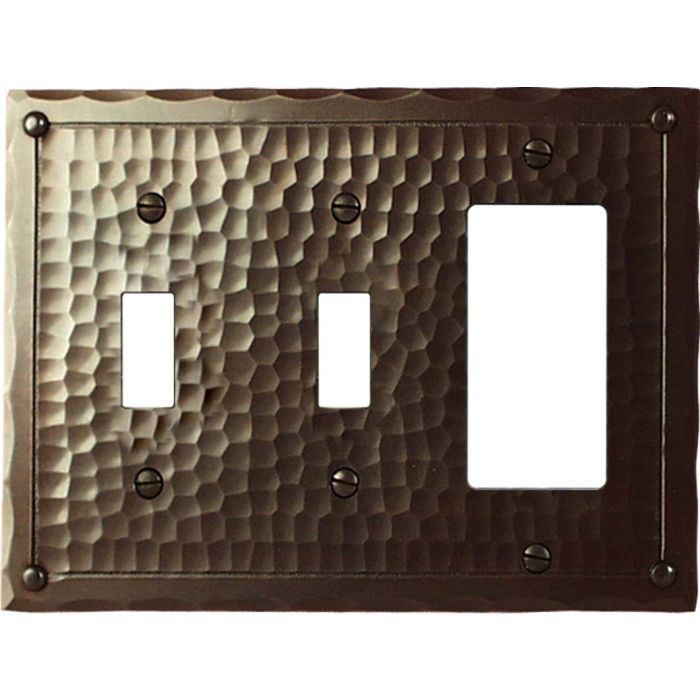 Field Style Double 2 Toggle / 1 GFCI Rocker Combo Switchplates