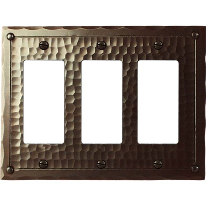 Field Style Triple 3 Rocker GFCI Decora Light Switch Covers