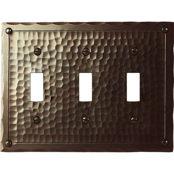 Field Style Triple 3 Toggle Light Switch Covers