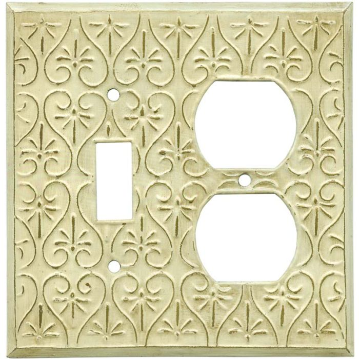 Filigree Combination 1 Toggle / Outlet Cover Plates