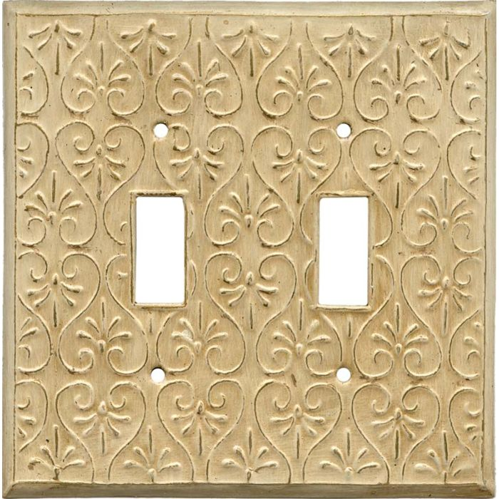 Filigree Double 2 Toggle Switch Plate Covers