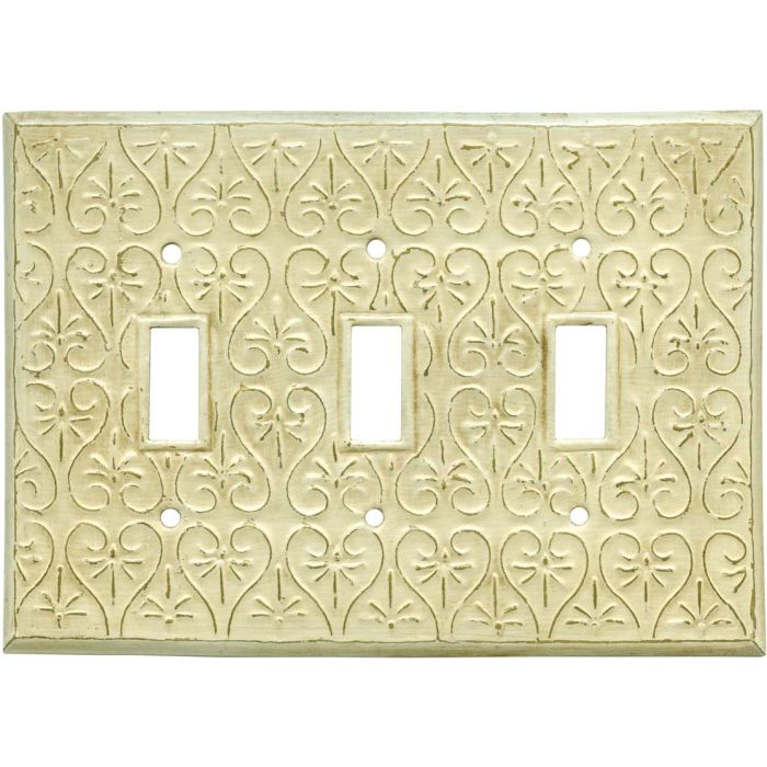 Filigree Triple 3 Toggle Light Switch Covers
