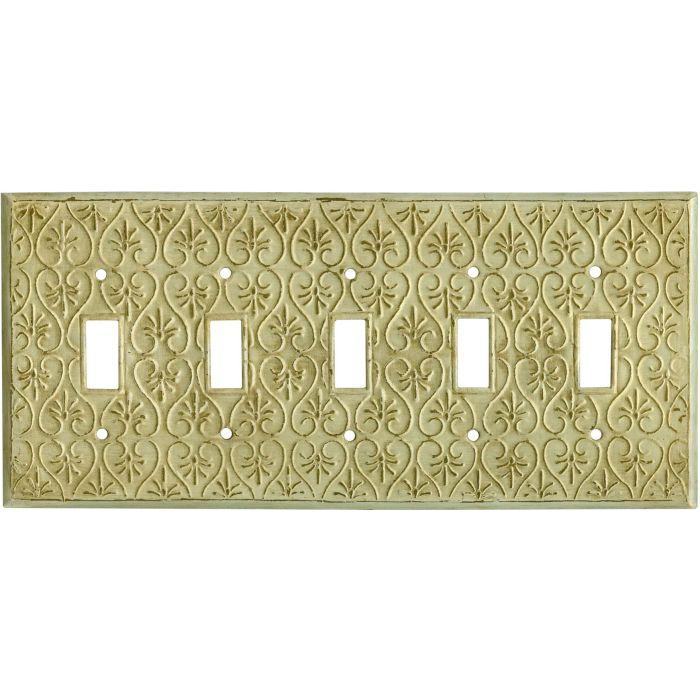 Filigree 5 Toggle Wall Switch Plates