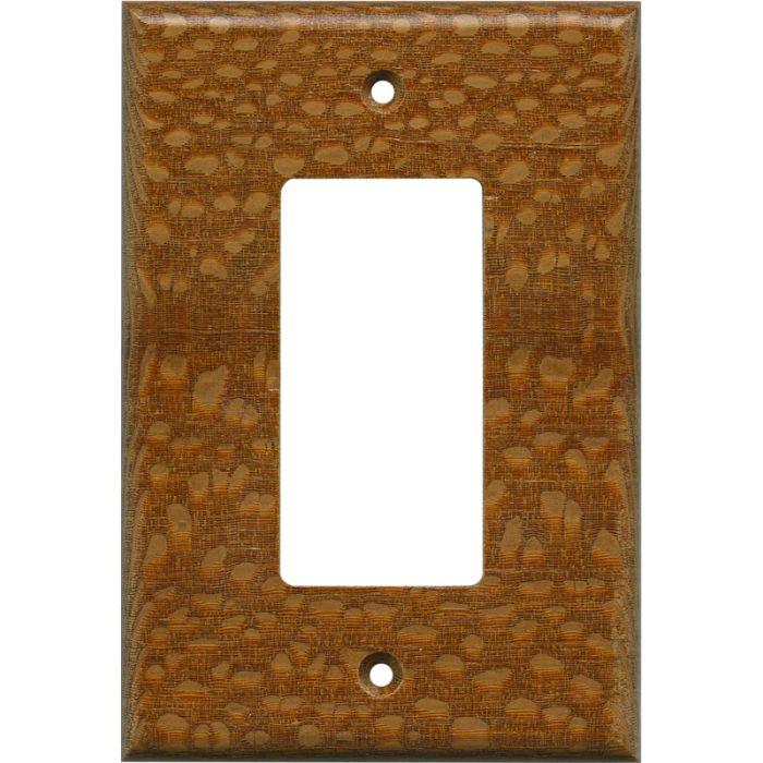 Fishtail Oak Satin Lacquer - GFCI Rocker Switch Plate Covers