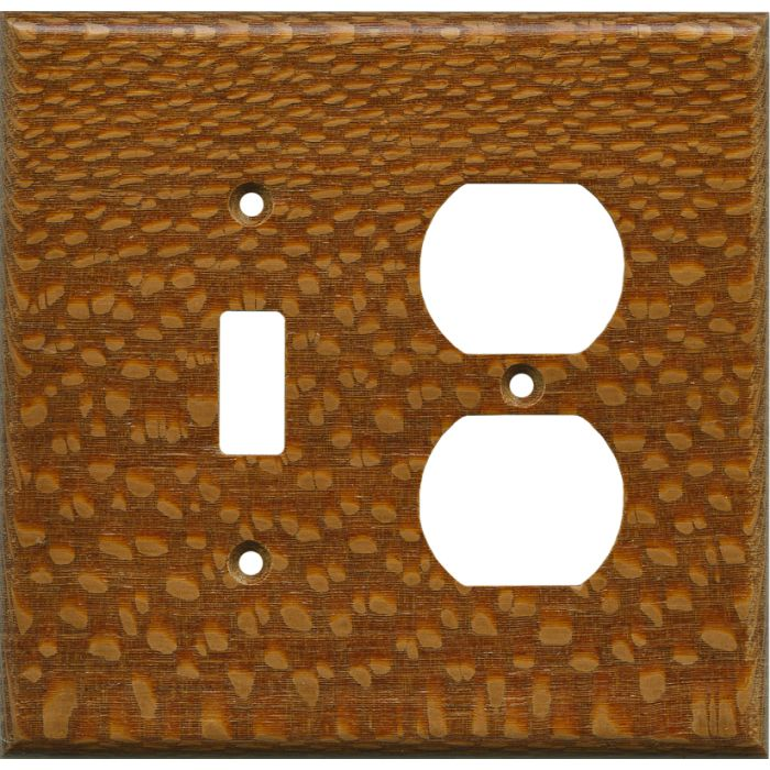 Fishtail Oak Satin Lacquer - Combination 1 Toggle/Outlet Cover Plates