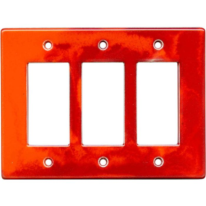 Flame Triple 3 Rocker GFCI Decora Light Switch Covers