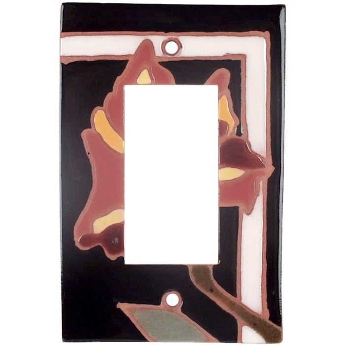Flower 144 - GFCI Rocker Switch Plate Covers