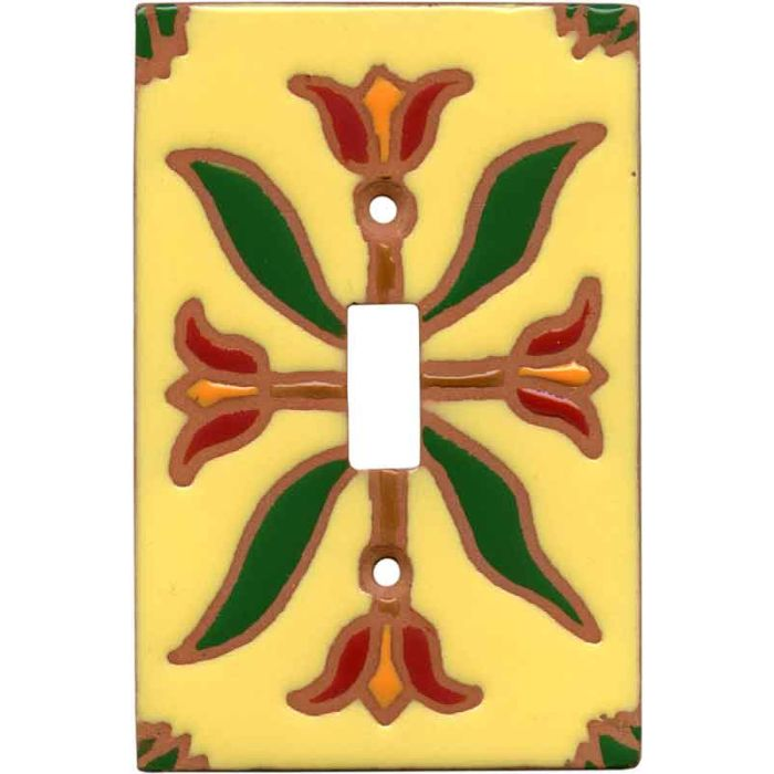 Flower Compass - 1 Toggle Light Switch Plates