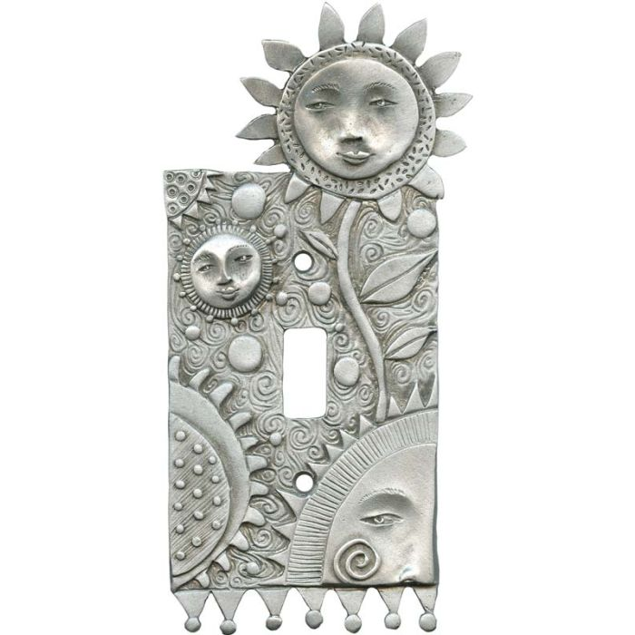 Flower Faces Single 1 Toggle Light Switch Plates