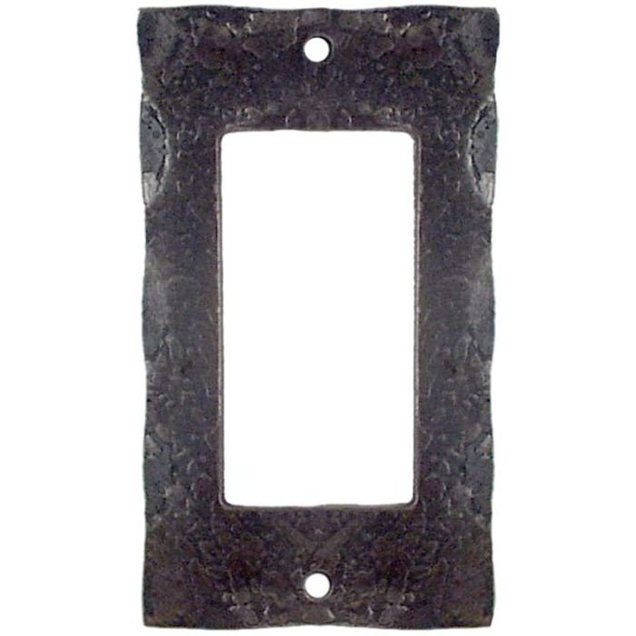 Forged Metal Single 1 Gang GFCI Rocker Decora Switch Plate Cover