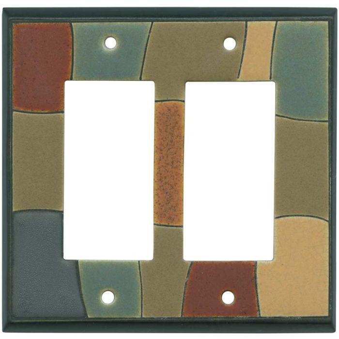 Fragments Ceramic2-Gang Decorator / GFCI Rocker Wall Plate Cover