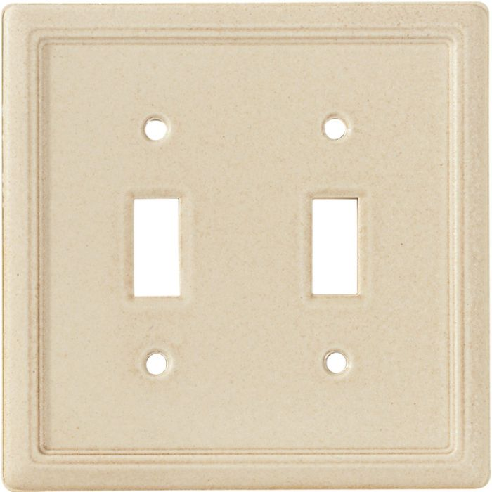 Frame Travertine Double 2 Toggle Switch Plate Covers