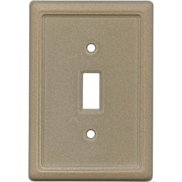 Frame Walnut Single 1 Toggle Light Switch Plates