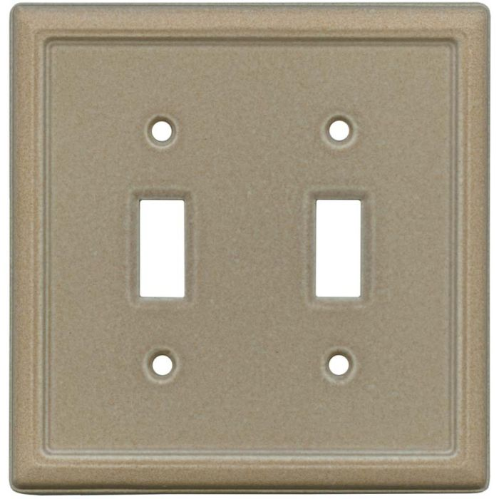 Frame Walnut Double 2 Toggle Switch Plate Covers