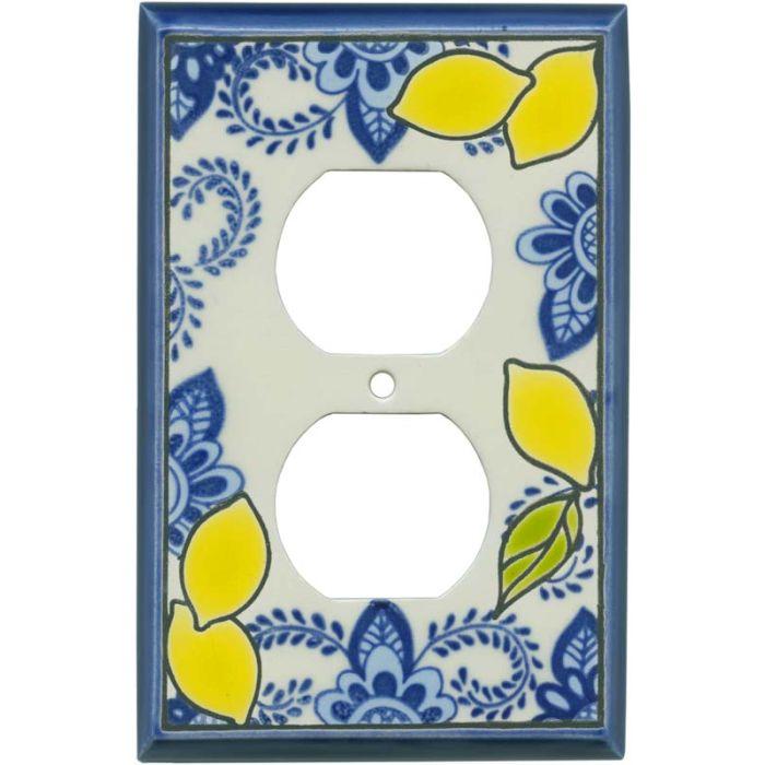 Fresh Lemons Ceramic 1 Gang Duplex Outlet Cover Wall Plate