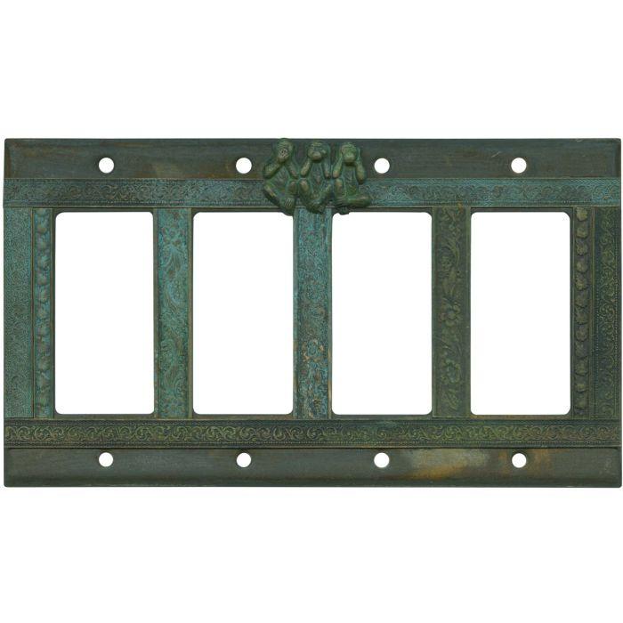 Funky Monkey 4 Rocker GFCI Decorator Switch Plates