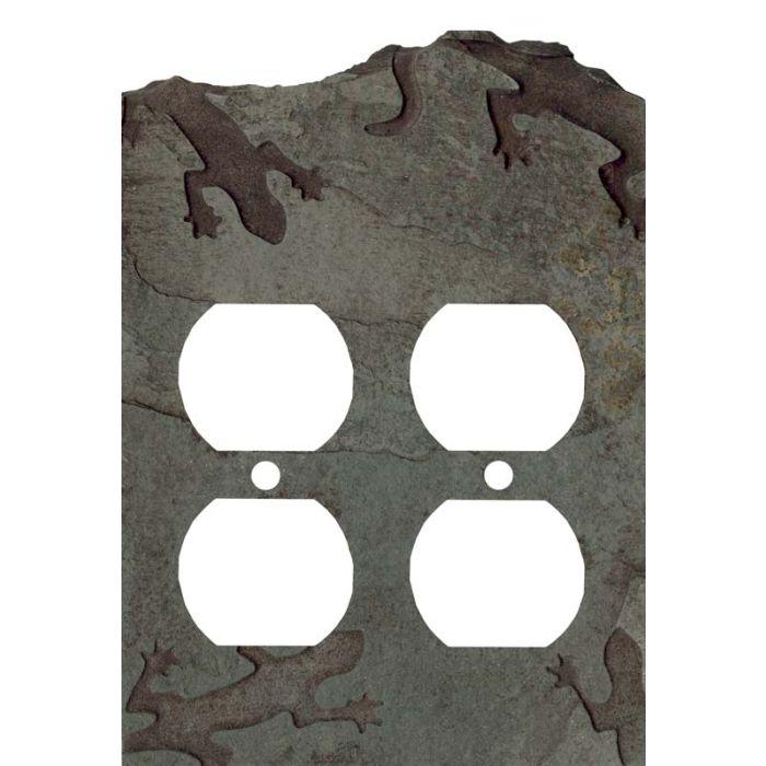 Gecko Petra 2 Gang Duplex Outlet Wall Plate Cover