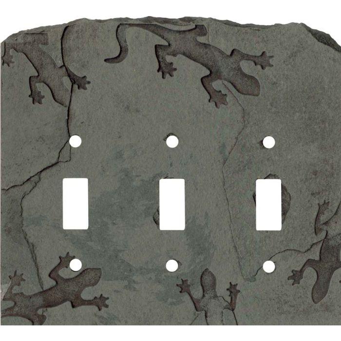 Gecko Petra Triple 3 Toggle Light Switch Covers