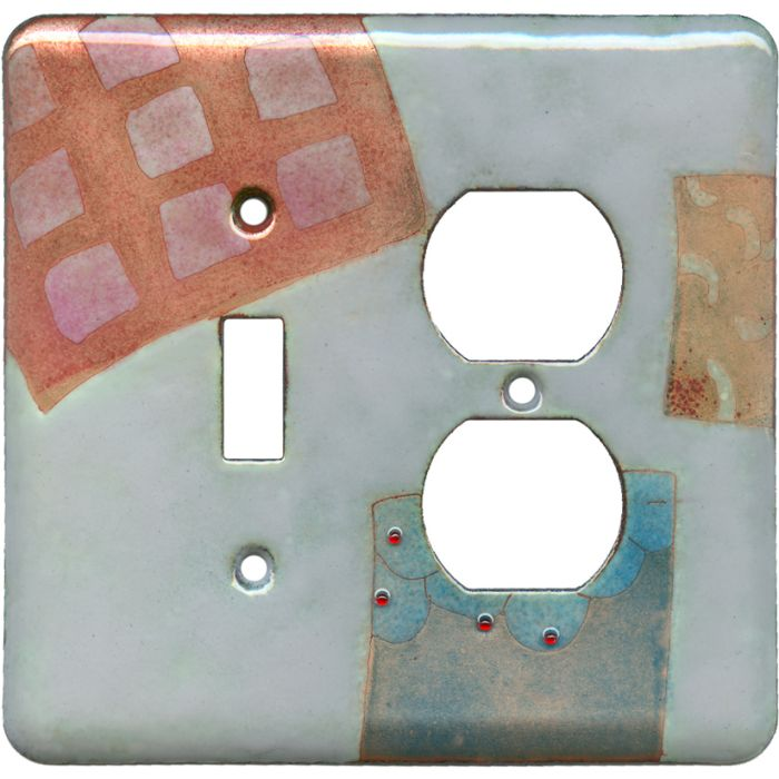 Geometrics 2 Combination 1 Toggle / Outlet Cover Plates