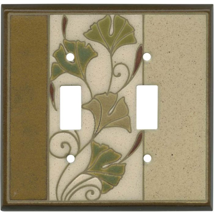 Ginko Ceramic Double 2 Toggle Switch Plate Covers