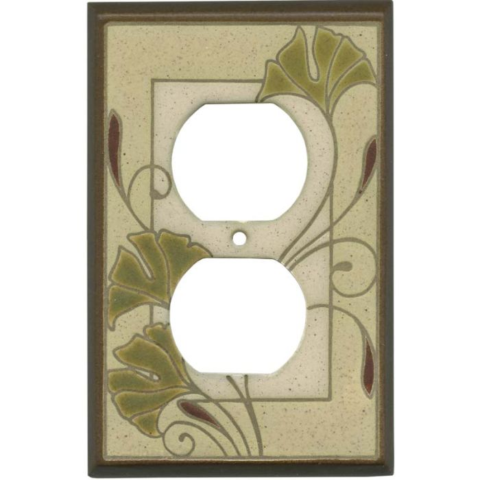 Ginko Ceramic 1 Gang Duplex Outlet Cover Wall Plate