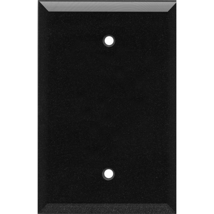 Glass Mirror Black with Blue Sparkle - Blank Wall Plates