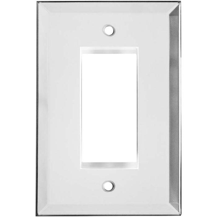 Glass Mirror Single 1 Gang GFCI Rocker Decora Switch Plate Cover
