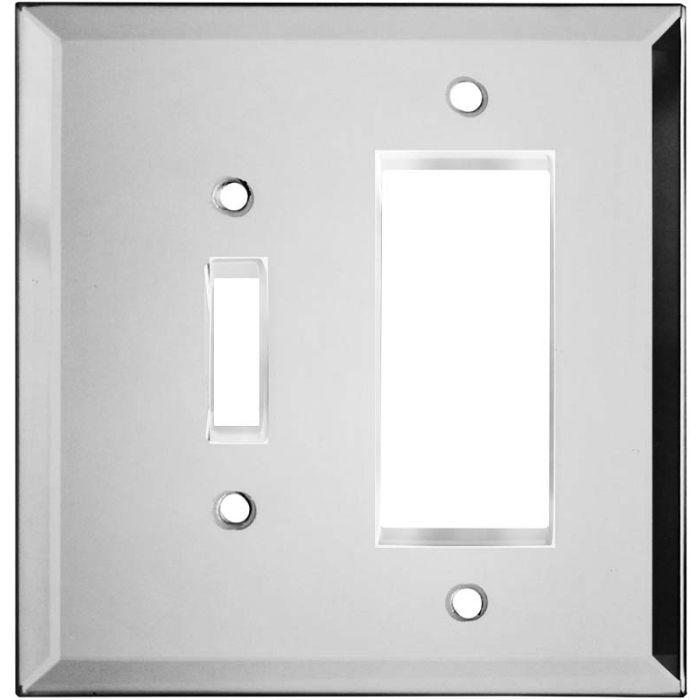 Glass Mirror Combination 1 Toggle / Rocker GFCI Switch Covers