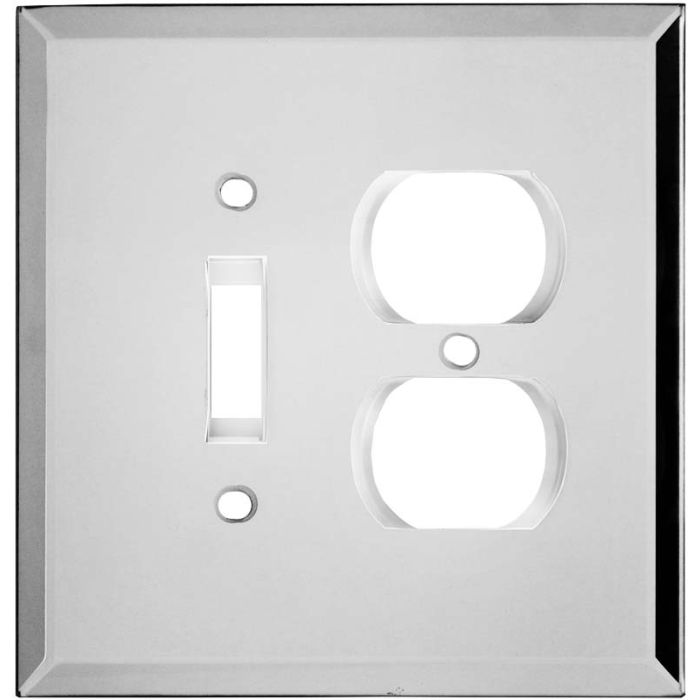 Glass Mirror Combination 1 Toggle / Outlet Cover Plates