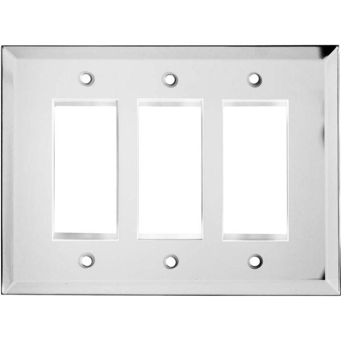 Glass Mirror Triple 3 Rocker GFCI Decora Light Switch Covers