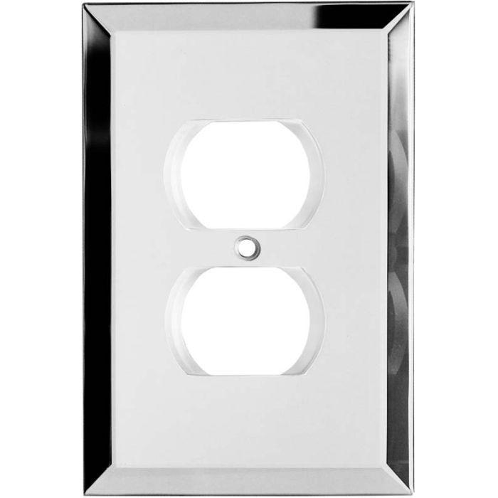 Glass Mirror 1 Gang Duplex Outlet Cover Wall Plate