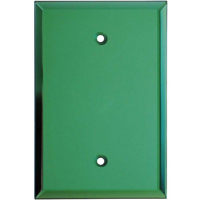 Glass Mirror Green - Blank Wall Plates