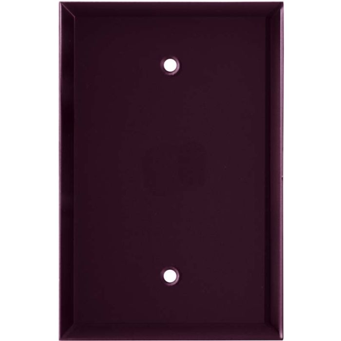 Glass Mirror Purple 1-Gang GFCI Decorator Rocker Switch Plate Cover