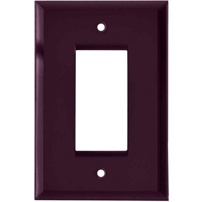 Glass Mirror Purple Single 1 Gang GFCI Rocker Decora Switch Plate Cover