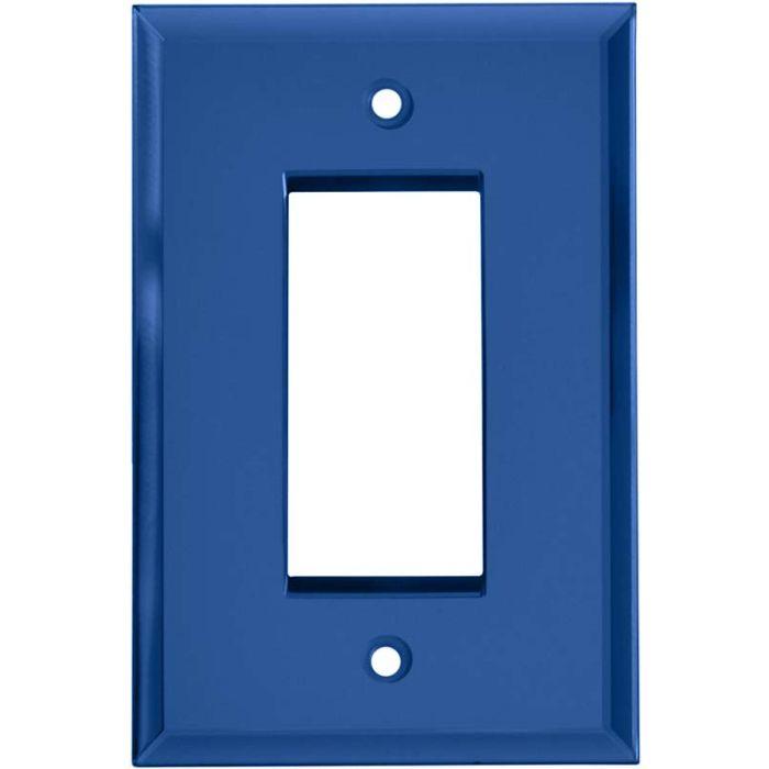 Glass Mirror Sky Blue - GFCI Rocker Switch Plate Covers