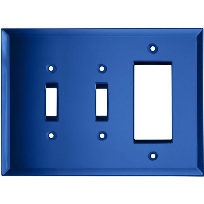 Glass Mirror Sky Blue - 2 Toggle/1 GFCI Rocker Switchplates
