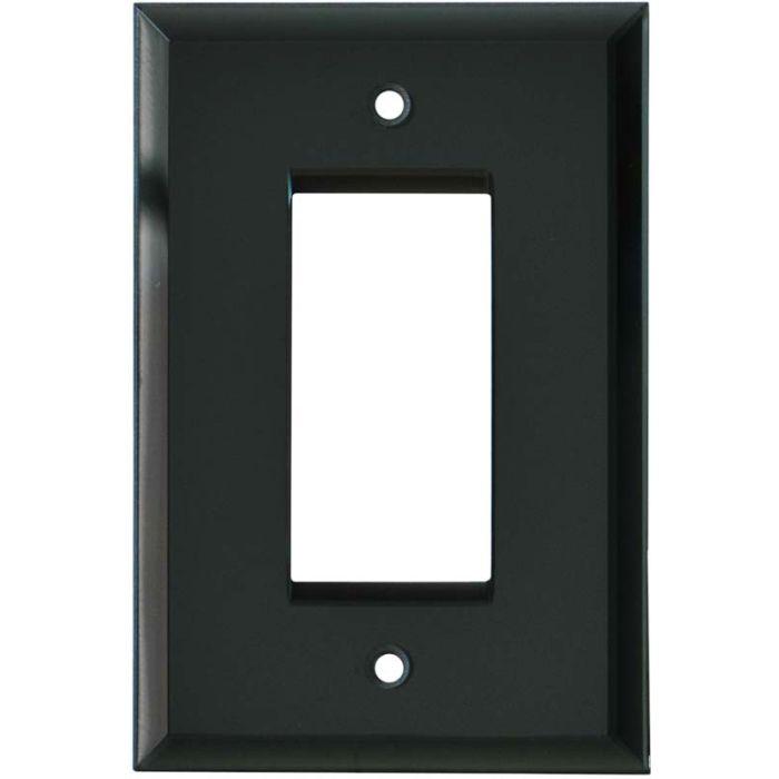 Glass Mirror Smoke Grey - GFCI Rocker Switch Plate Covers