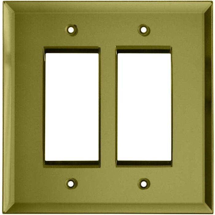 Glass Mirror Yellow - 2 Toggle/1 GFCI Rocker Switchplates