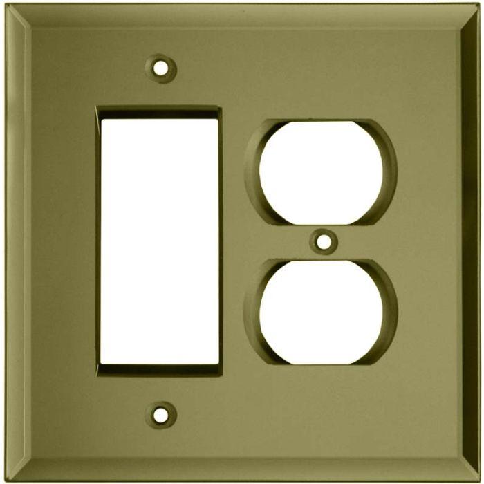 Glass Mirror Yellow - GFCI Rocker/Duplex Outlet Wall Plates