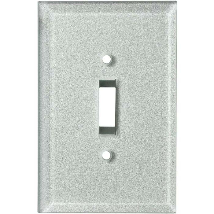 Glass Silver - Single Toggle Switch Plates