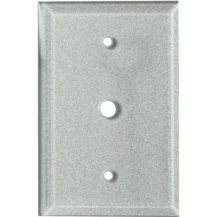 Glass Silver Coax Cable TV Wall Plates