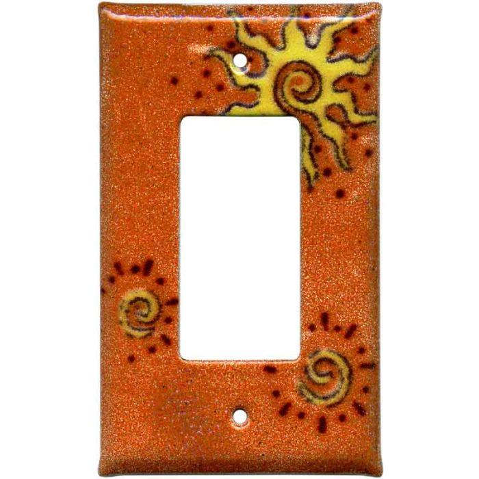 Golden Sunburst 1-Gang GFCI Decorator Rocker Switch Plate Cover
