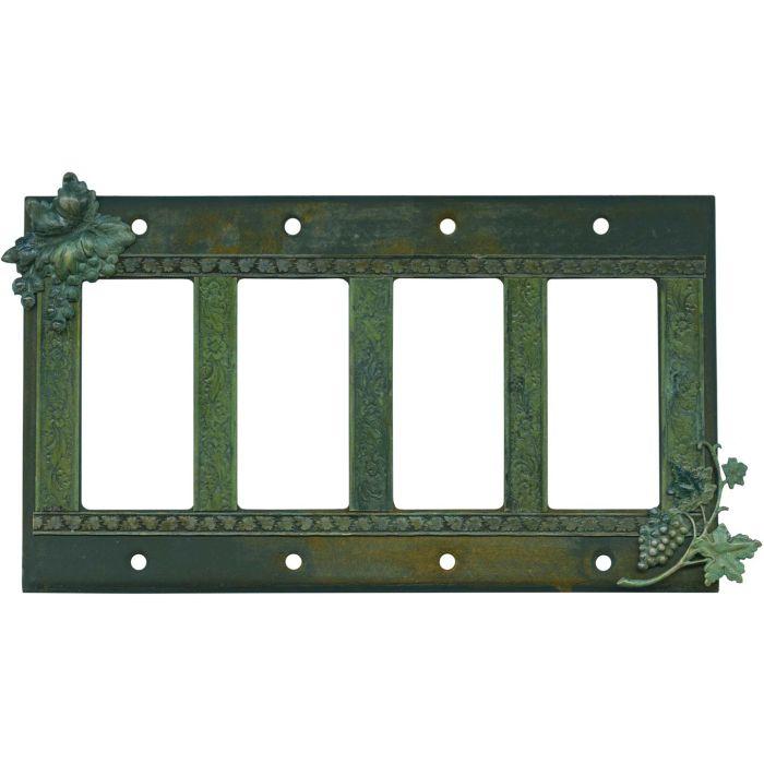 Grape Bunch 4 Rocker GFCI Decorator Switch Plates