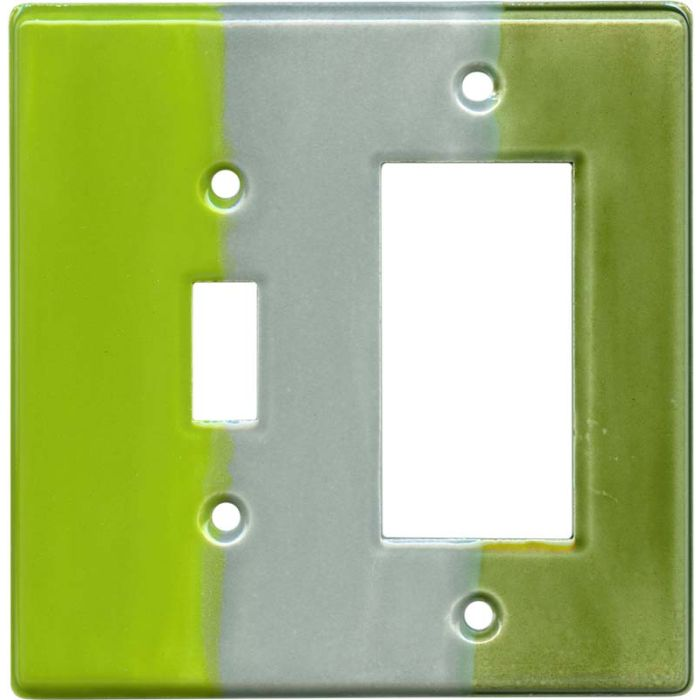 Green Apple Combination 1 Toggle / Rocker GFCI Switch Covers