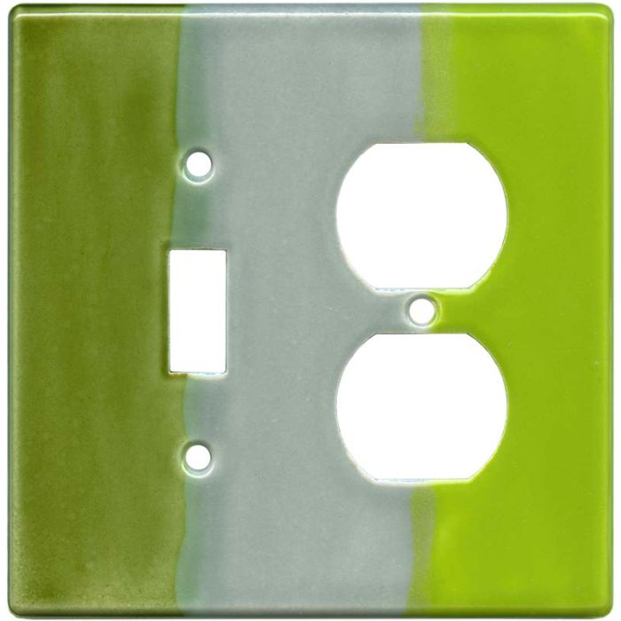 Green Apple Combination 1 Toggle / Outlet Cover Plates