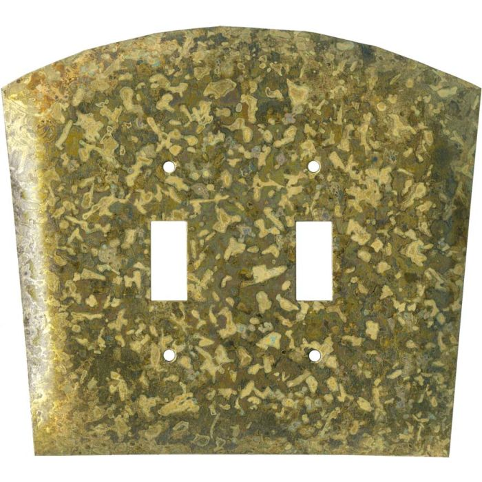 Green Double 2 Toggle Switch Plate Covers
