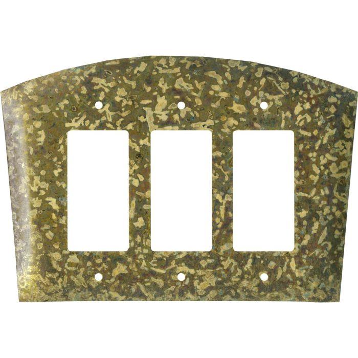 Green Triple 3 Rocker GFCI Decora Light Switch Covers
