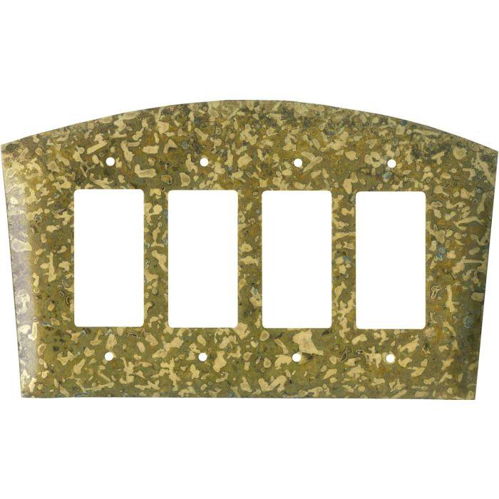 Green 4 Rocker GFCI Decorator Switch Plates