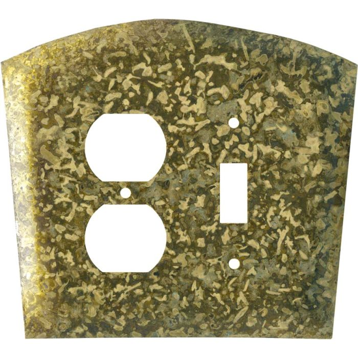 Green1-Duplex / 1-Toggle - Combination Wall Plates
